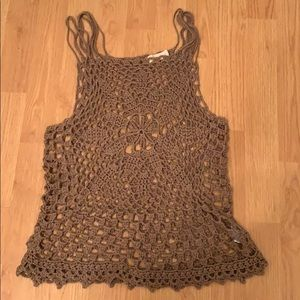 Altar'd State brown mesh tank top